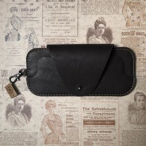 Brown Faux Leather Sunglass Case